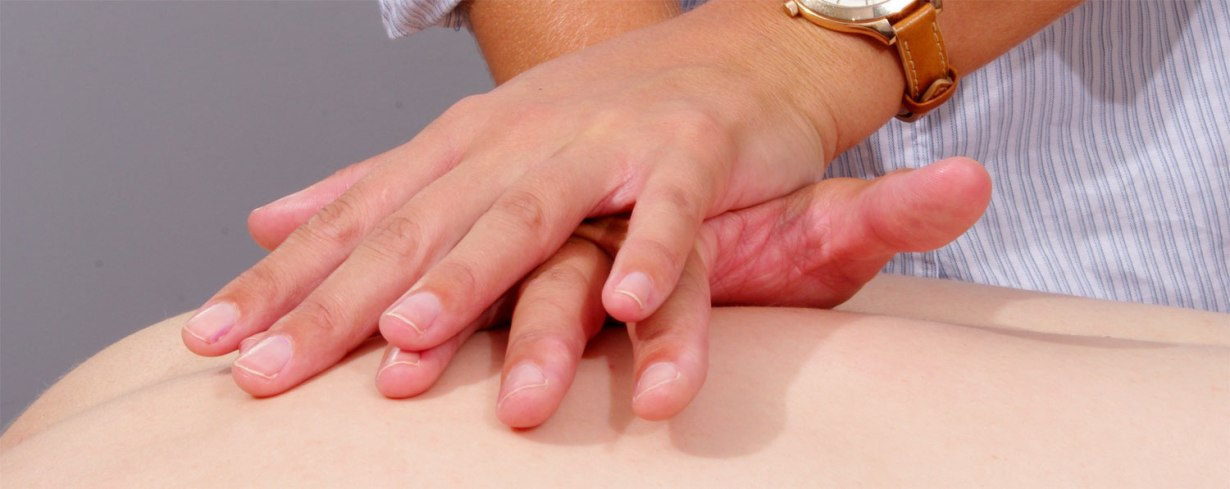 Physiotherapist's hands